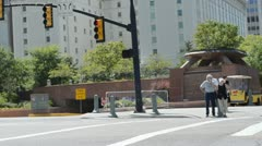 People at crosswalk 2122 - stock footage