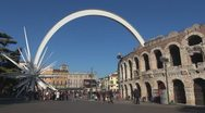Stock Video Footage of Timelapse of Verona Arena, Italy