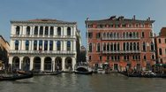 Stock Video Footage of Grand Canal in Venice, Italy, people,  boats, ships and gondolas trip, tour