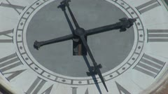 Timelapse of a beautiful city clock - stock footage