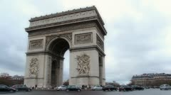 Arc De Triomphe - stock footage