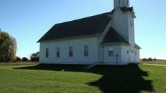 Prairie Church sun steeple tilt down silhouette.mp4 Stock Footage