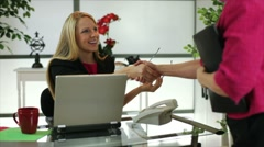 Businesss meeting with two women Stock Footage
