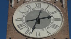 Timelapse of a beautiful city clock Stock Footage