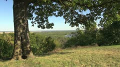 Missouri Mississippi River view Stock Footage