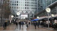 Stock Video Footage of Time Lapse of Canary Wharf Offices, Docklands, Business People, Financial Center