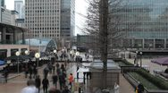 Time Lapse of Canary Wharf Offices, Docklands, Business People, Financial Center Stock Footage