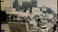 People Walk on Atlantic City Boardwalk NYC 1950s Vintage Film Home Movie 1702 Stock Footage