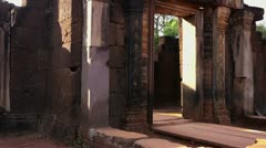 Banteay Srey temple in Angkor area, Siem Riep, Cambodia, Asia Stock Footage