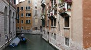 Time Lapse of Venice, Italy Aerial View of  Gondolas on a Small Canal Stock Footage