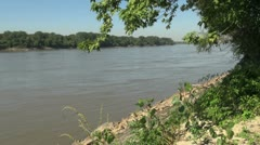 Missouri River view Stock Footage