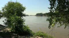 Missouri River near confluence with Mississippi Stock Footage
