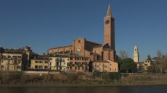 Sant'Anastasia church, Verona, Italy Stock Footage
