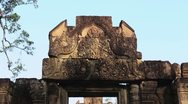 Stock Video Footage of Banteay Srei temple in Angkor area, Siem Reap, Cambodia, Asia
