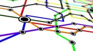 Subway Network People Connections v1 07 Stock Footage