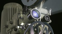 Film Projector m 01 smoke 01 Stock Footage