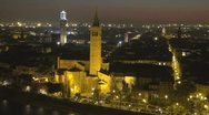 Stock Video Footage of Timelapse of Verona by night, Italy