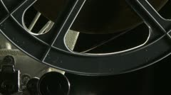 Projector feed reel Stock Footage