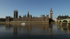 House of Parliament, London - stock footage