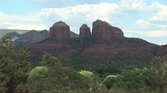 Cathedral Rock- Sedona, AZ Wide Shot 4 - stock footage