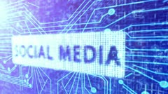 Social Media Circuit Board Background Stock Footage