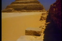 The Step Pyramid of Sakkara in Egypt 108021 Stock Footage