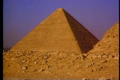 The Great Pyramids of Giza outside of Cairo 108027 Stock Footage