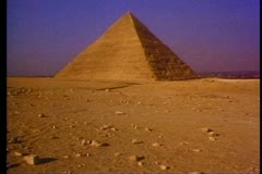 The Great Pyramid of Giza outside of Cairo 108033 Stock Footage