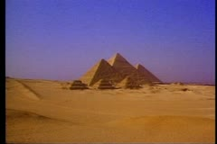 The Great Pyramids of Giza, outside of Cairo in Egypt 108026 Stock Footage