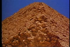 The Step Pyramid of Sakkara Stock Footage