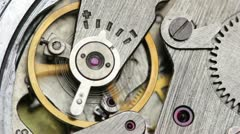 Pendulum clock mechanism Stock Footage