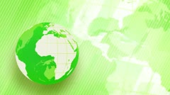 Green background globe spinning loop Stock Footage
