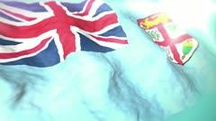 3d flag Fiji 1080p - stock footage