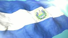 3d flag El Salvador 1080p - stock footage
