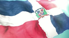 3d flag Dominican Republic 1080p Stock Footage