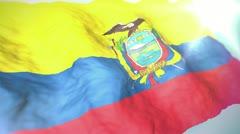 3d flag Ecuador 1080p - stock footage