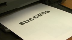 Stock Video Footage of Printing success