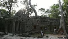 Ta Prohm Temple Stock Footage
