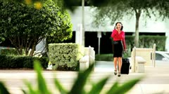 Female City Executive on Business Trip - stock footage