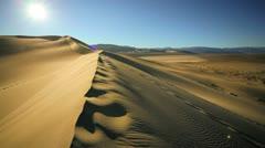 Sun over Empty Desert - stock footage