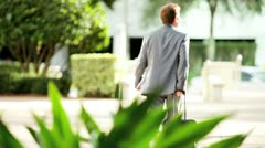 Businessman Returning from Travel - stock footage