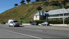 Fire department emergency response in Malibu, California Stock Footage