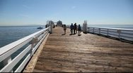 Stock Video Footage of Manhattan Beach, California, pier