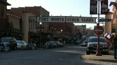 Fort Worth Stock Yards Stock Footage