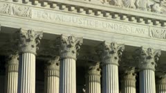 Stock Video Footage of U.S. Supreme Court - Equal Justice Under Law