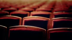 stock video footage Seats in empty Theatre - stock footage