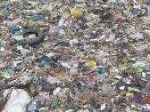 Many different waste in dump. Global environmental pollution. Stock Footage