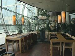 Modernistic restaurant interior. Cozy romantic atmosphere. Stock Footage
