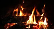 Stock Video Footage of fireplace