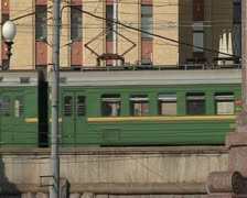 Suburban electric train Stock Footage